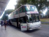 Liniers: los ómnibus de larga distancia paran sobre la colectora de General Paz