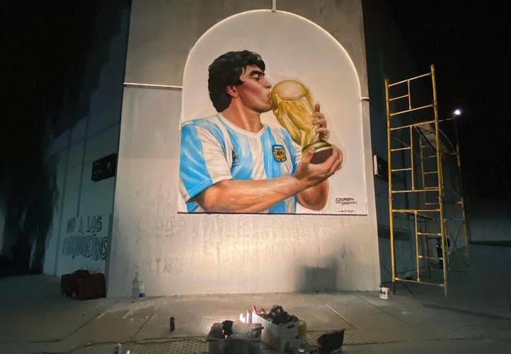 Una pared con el Diego